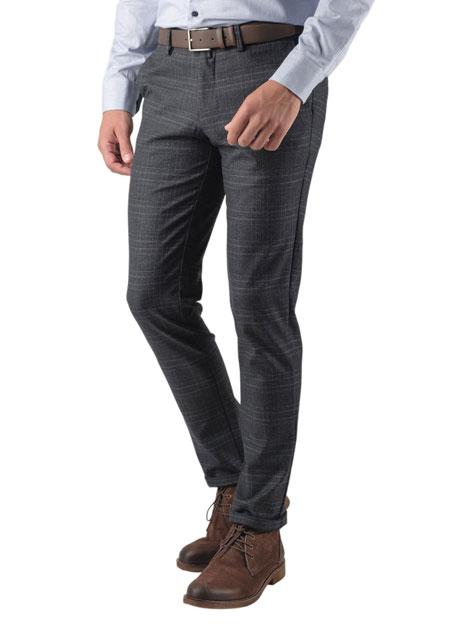 Ανδρικό Παντελόνι chinos Manetti casual dark grey
