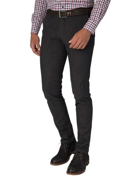 Ανδρικό Παντελόνι chinos Manetti grey black