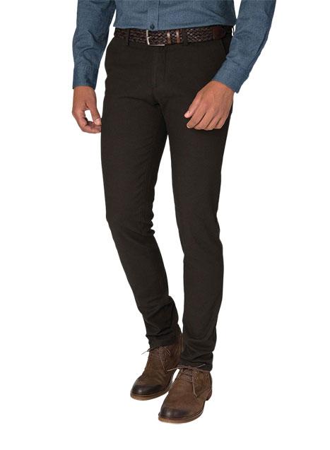 Ανδρικό Παντελόνι chinos Manetti brown black
