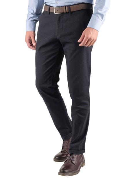 Ανδρικό Παντελόνι chinos Manetti casual dark blue