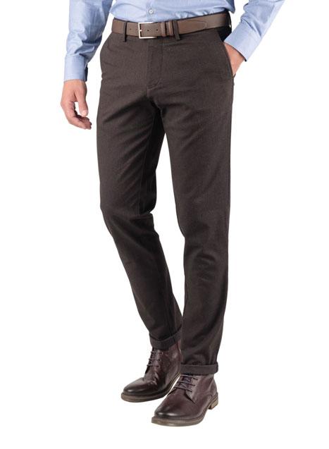 Ανδρικό Παντελόνι chinos Manetti casual brown