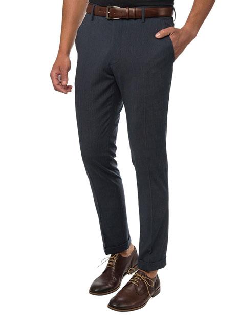 Ανδρικό Παντελόνι Manetti formal blue-grey