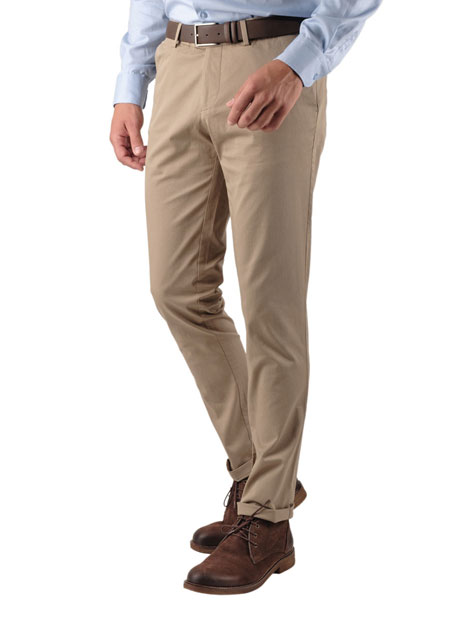 Ανδρικό Παντελόνι chinos Manetti casual khaki