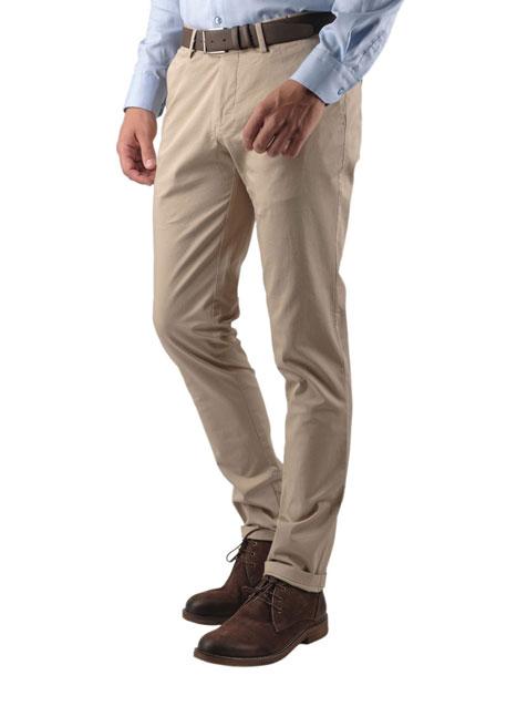 Ανδρικό Παντελόνι chinos Manetti casual beige