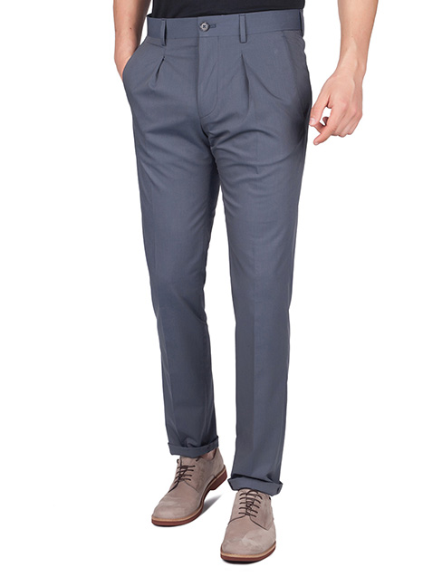 Ανδρικό Παντελόνι με πιέτα Manetti formal indigo grey