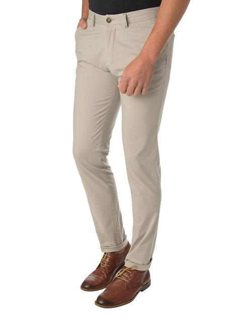 Ανδρικό Παντελόνι chinos casual dirty beige