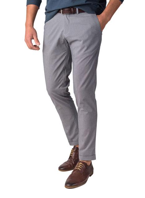 Ανδρικό Παντελόνι chinos Manetti casual grey-blue-beige