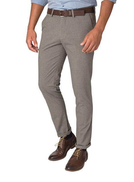 Ανδρικό Παντελόνι chinos Manetti formal beige-blue