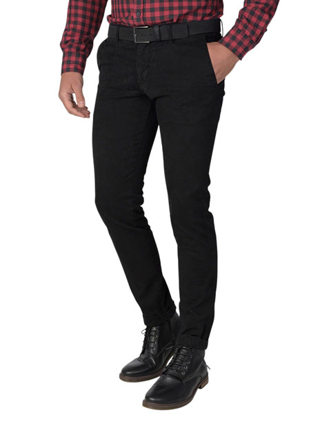 Ανδρικό Παντελόνι chinos Manetti casual black