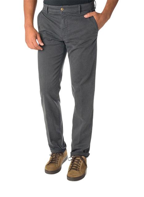 Ανδρικό Παντελόνι chinos Manetti casual steel grey