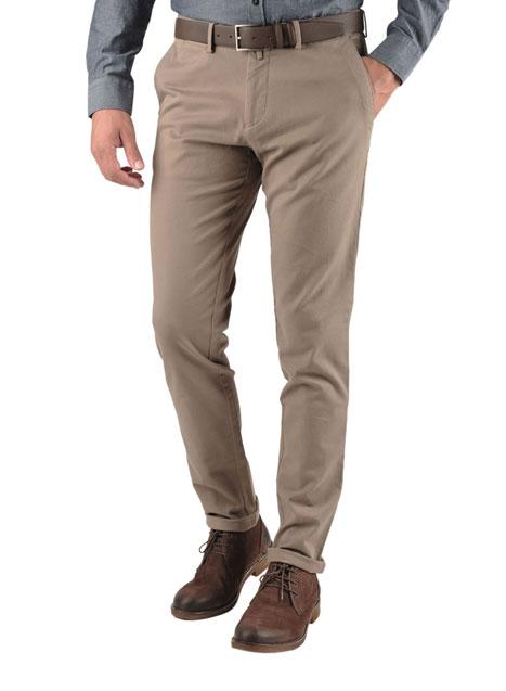Ανδρικό Παντελόνι chinos Manetti casual dirty beige