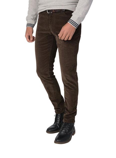 Ανδρικό Παντελόνι κοτλέ 5τσεπο casual khaki grey