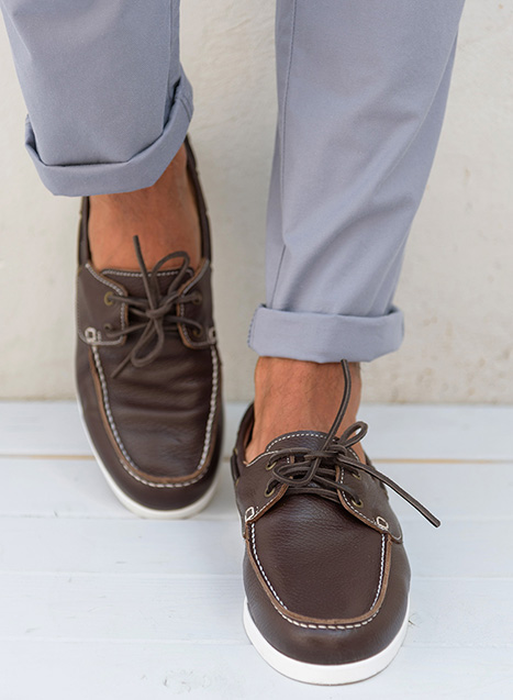 Ανδρικό Boat shoe Manetti casual brown