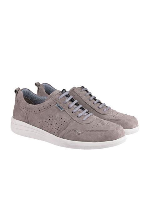 Ανδρικό Δερμάτινο sneaker Manetti grey ice