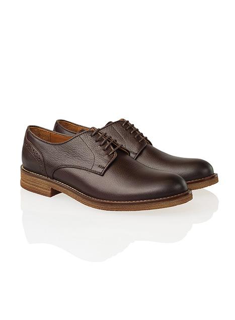 Ανδρικό Oxford δερμάτινο Manetti casual brown