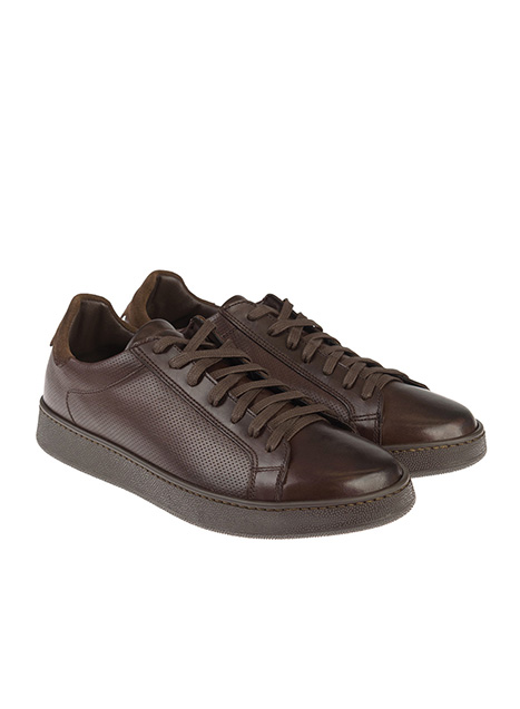 Ανδρικό Sneaker δερμάτινο Manetti brown