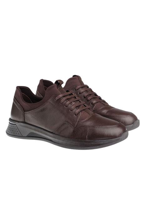 Ανδρικό Δερμάτινο sneaker Manetti formal brown