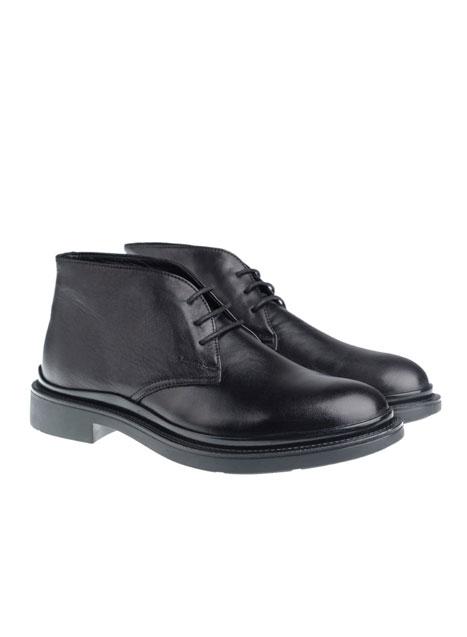 Ανδρικό Δερμάτινο μποτάκι Manetti formal black