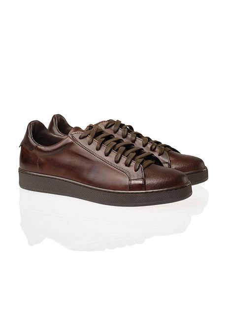 Ανδρικό Δερμάτινο sneaker Manetti casual old brown