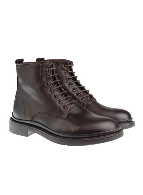 Ανδρικό Δερμάτινη μπότα Manetti formal brown