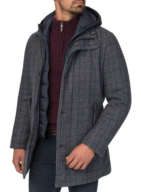 Ανδρικό Μπουφάν Manetti casual grey-blue