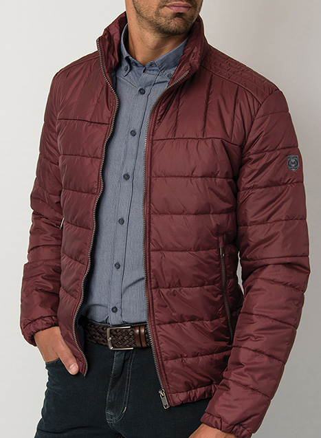 Ανδρικό Μπουφάν puffer Manetti accessories wine red