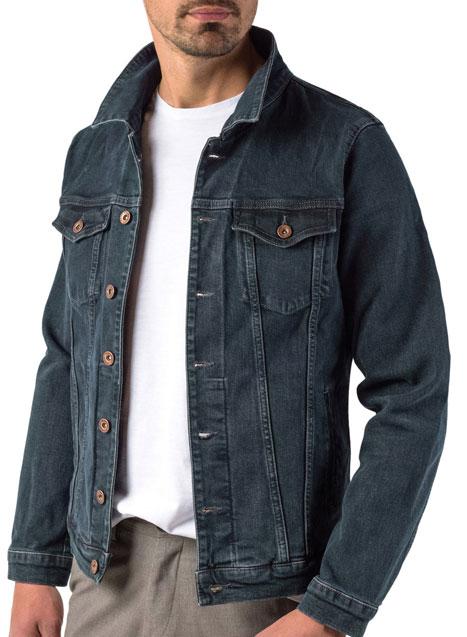 Ανδρικό Jean jacket Manetti accessories blue-rust