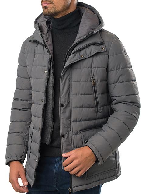 Ανδρικό Μπουφάν Manetti casual grey
