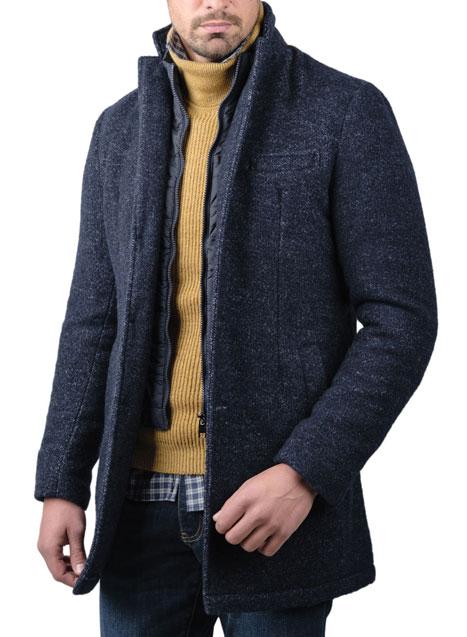 Ανδρικό Παλτό Manetti casual blue