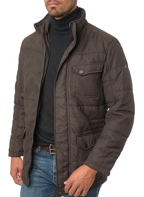 Ανδρικό Μπουφάν Manetti casual khaki brown