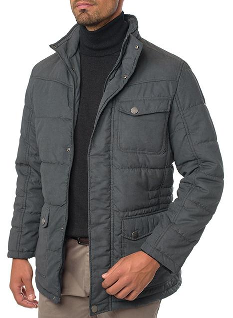Ανδρικό Μπουφάν Manetti casual indigo grey