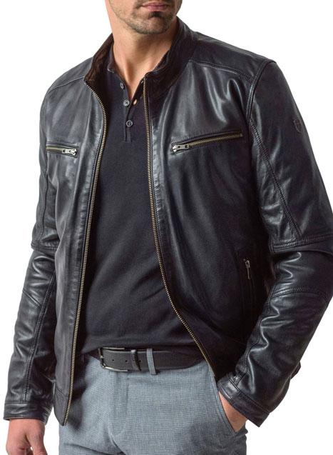 Ανδρικό Μπουφάν Manetti casual black