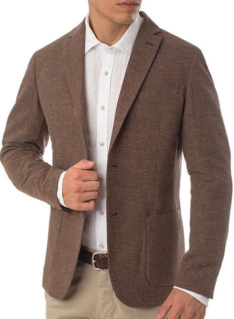 Ανδρικό Σακάκι Manetti formal khaki brown