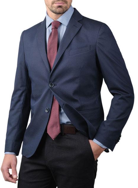 Ανδρικό Σακάκι Manetti formal navy blue