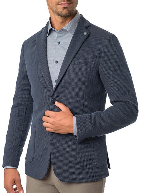 Ανδρικό Σακάκι Manetti formal smoke blue