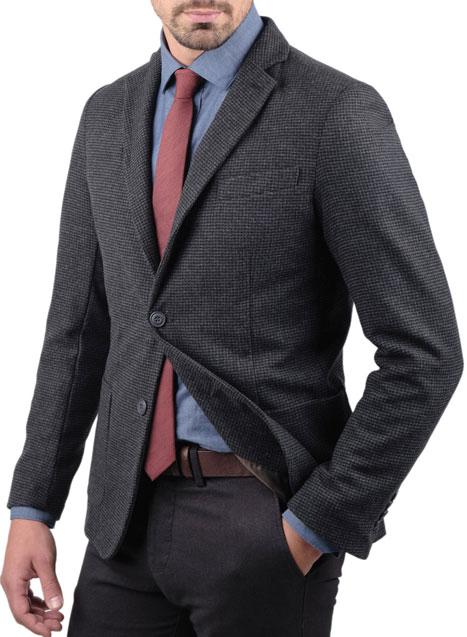 Ανδρικό Σακάκι Manetti formal grey-black