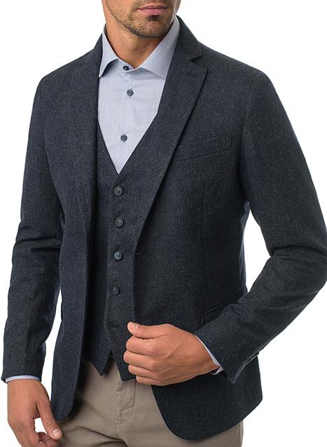 Ανδρικό Σακάκι Manetti formal blue grey