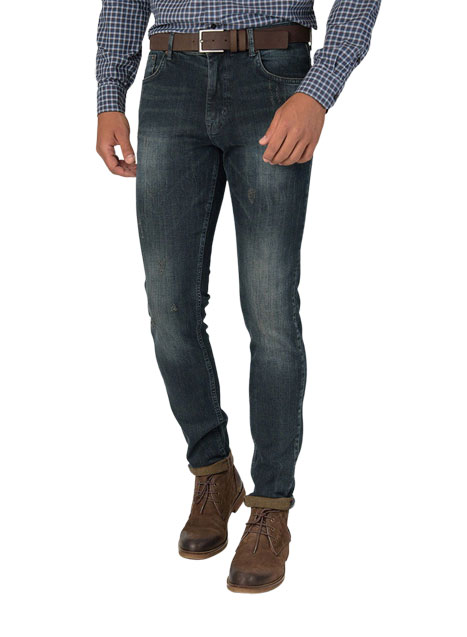 Ανδρικό Jeans Manetti blue-rust