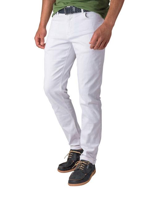 Ανδρικό Jean παντελόνι Manetti white