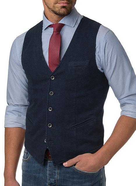 Ανδρικό Γιλέκο Manetti formal dark blue