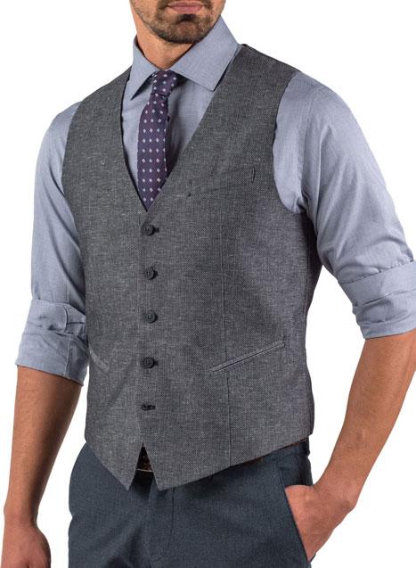 Ανδρικά Γιλέκα Κουστουμιού Υφασμάτινα | Manetti Menswear