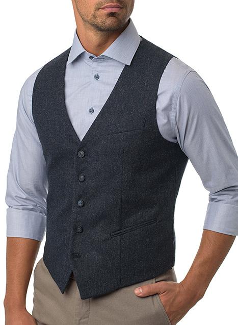 Ανδρικό Γιλέκο Manetti formal blue grey