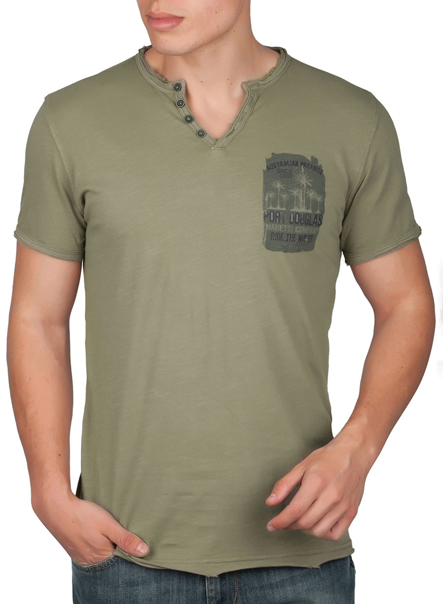 f53dabb5b58 ΑΝΔΡΙΚΟ T-SHIRT MANETTI CASUAL KHAKI GREEN