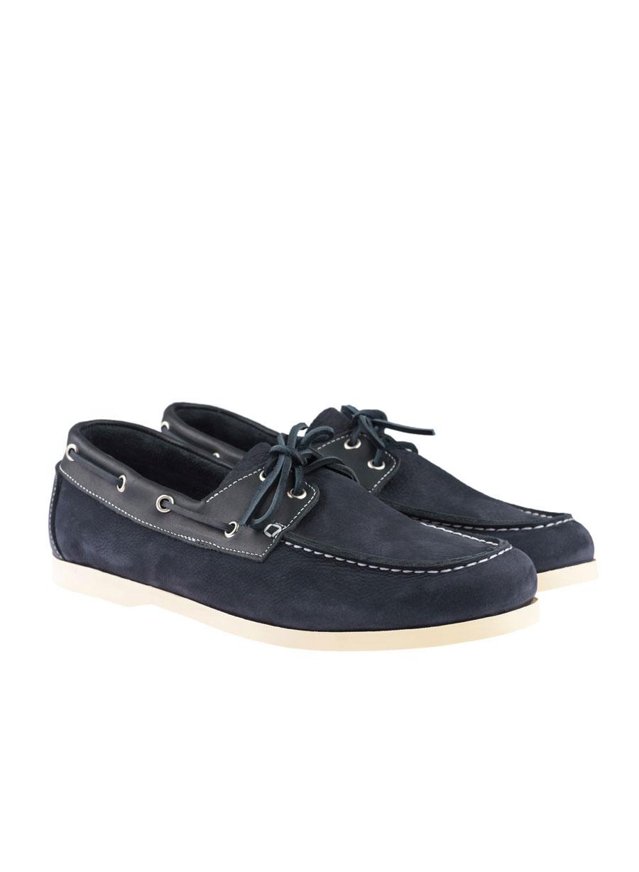 Ανδρικό Δερμάτινο boat shoe Manetti navy blue