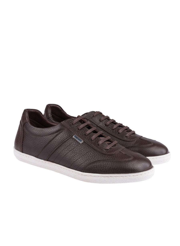 Ανδρικό Δερμάτινο sneaker Manetti brown