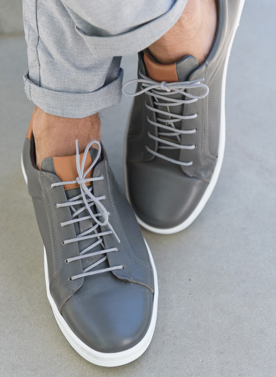 ΑΝΔΡΙΚΟ SNEAKER MANETTI CASUAL DIRTY GREY