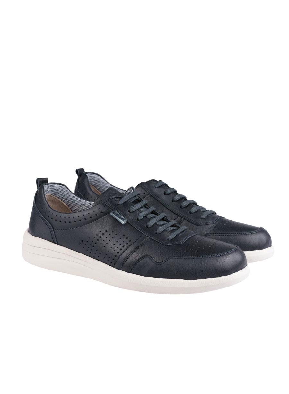 Ανδρικό Δερμάτινο sneaker Manetti navy blue